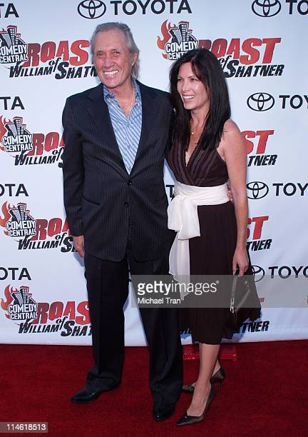 David Carradine and wife Annie Bierman during Comedy Central's Roast of William Shatner Arrivals at CBS Studio Center in Studio City California...