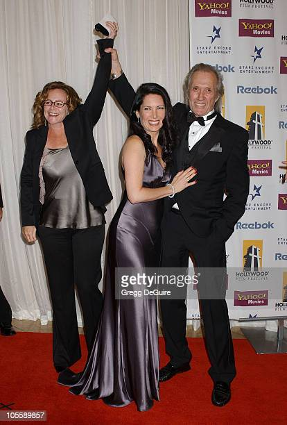 David Carradine Annie Bierman and guest during The 8th Annual Hollywood Film Festival Hollywood Awards Gala Arrivals at Beverly Hilton Hotel in...