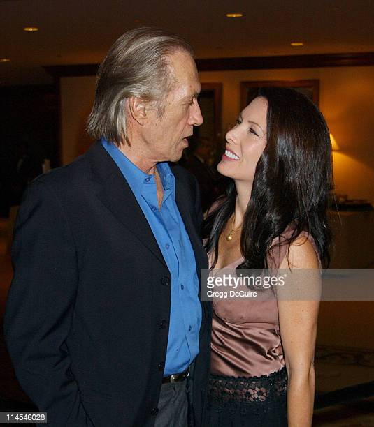 David Carradine Annie Bierman during 29th Annual Dinner Of Champions Honoring Bob and Harvey Weinstein at Century Plaza Hotel in Los Angeles...