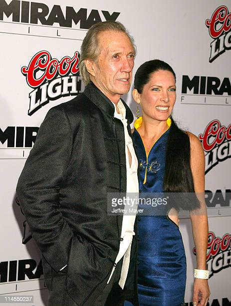 David Carradine Annie Bierman during 'Kill Bill Vol 1' Premiere Arrivals at Grauman's Chinese Theatre in Hollywood California United States