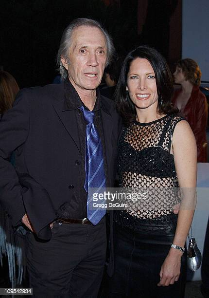 David Carradine Annie Bierman during Los Angeles Fashion Week Lotta Fall 2002 Collection to Benefit 'Dress for Success' at Moomba in West Hollywood...
