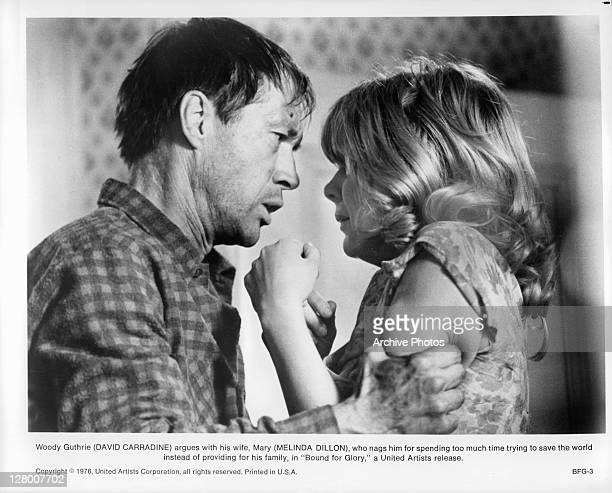 David Carradine argues with his wife Melinda Dillon in a scene from the film 'Bound For Glory' 1976