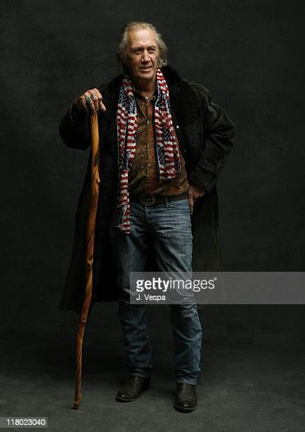 David Carradine during 2007 Slamdance Film Festival Homo Erectus Portraits at Delta Sky Lodge in Park City Utah United States