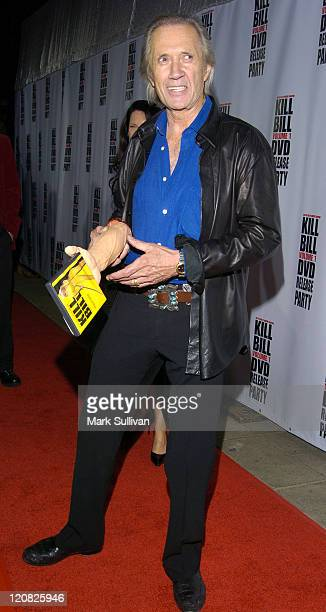 David Carradine during 'Kill Bill Vol 1' DVD Release Party at The Playboy Mansion in Holmby Hills California United States