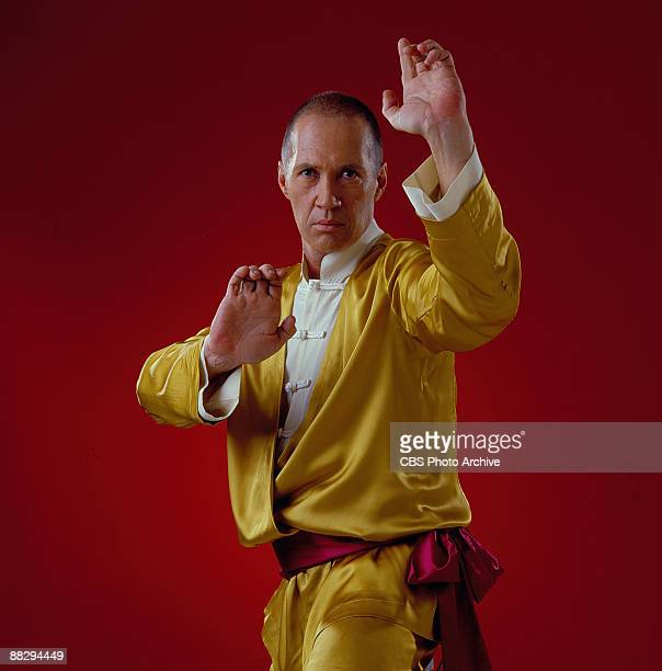 David Carradine in a kungfu pose as Shaolin monk Kwai Chang Caine in Kung Fu the Movie November 1985