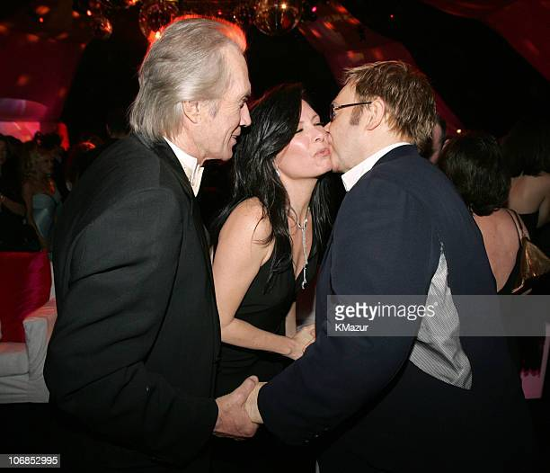 David Carradine wife Annie Bierman and Sir Elton John