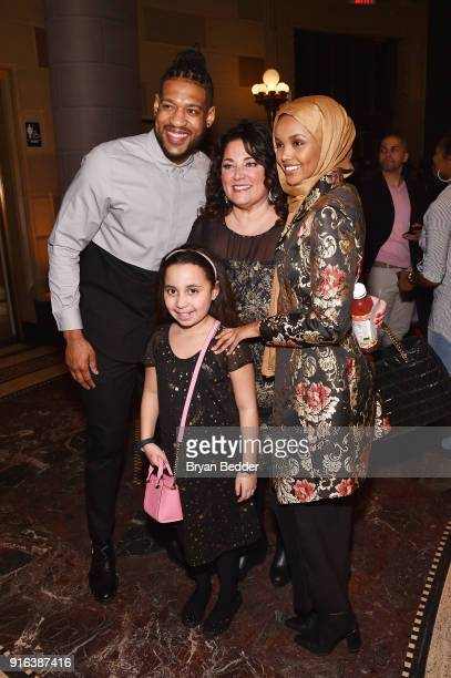 David Carter Halima Aden and guests attend the NYFW Sherri Hill Runway Show on February 9 2018 in New York City