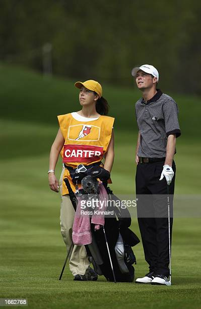 David Carter of England during the final round of the Benson and Hedges International Open held on May 12, 2002 at the Belfy, in Sutton Coldfield,...