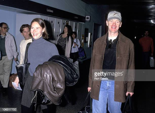 David Caruso and Margaret Buckley during David Caruso Sighting at Los Angeles International Airport March 10 1997 at Los Angeles International...