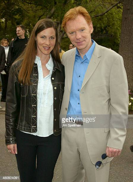 David Caruso and wife Margaret Buckley during 20032004 CBS Upfront After Party at Tavern on the Green in New York City New York United States