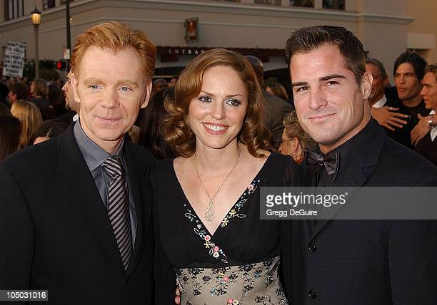 David Caruso Jorja Fox and George Eads during The 29th Annual People's Choice Awards Arrivals by Gregg DeGuire at Pasadena Civic Auditorium in...