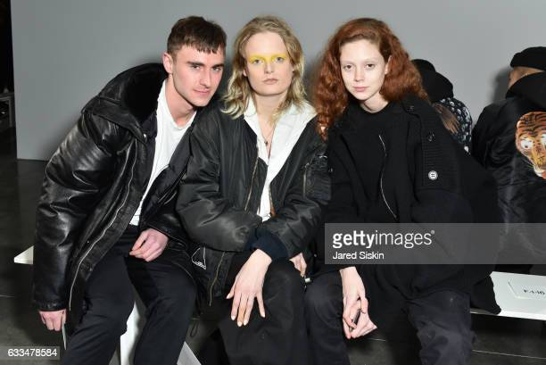 David Casavant Hanne Gaby Odiele and Natalie Westling attend the Raf Simons show during NYFW Men's on February 1 2017 in New York City