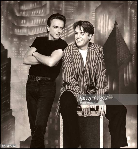 David Cassidy and his half brother Shaun Cassidy who are starring in Blood Brothers at the Music Box theatre on Broadway New York 1993 For Avenue...