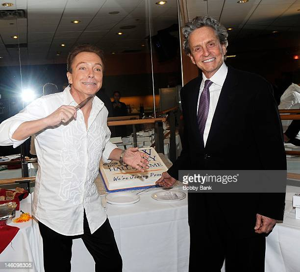 David Cassidy and Michael Douglas attend The 5th Annual New Jersey Hall Of Fame Induction Ceremony at New Jersey Performing Arts Center on June 9...
