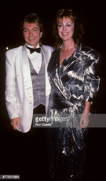 David Cassidy and wife Meryl Tanz attend Breeders Cup Gala on November 1 1985 at the Museum of Natural History in Los Angeles California