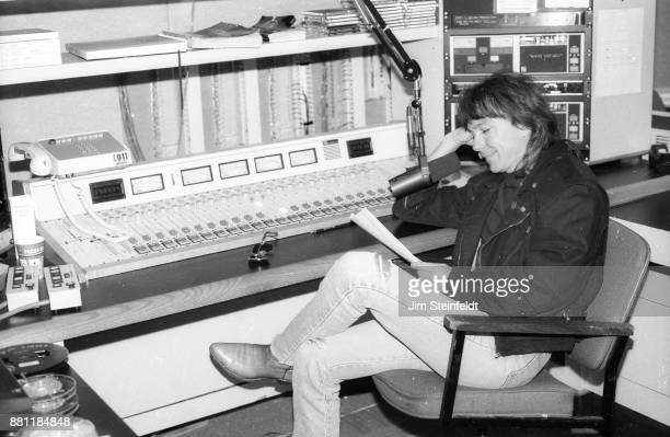 David Cassidy at WLOL radio station in Minneapolis Minnesota on July 1 1990