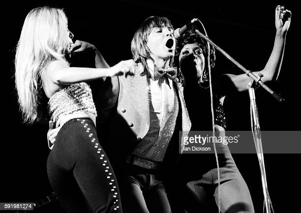 David Cassidy performing on stage at White City, London 26 May 1974.