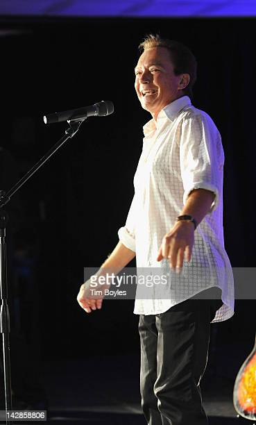 David Cassidy performs at The Club at Treasure Island on April 13 2012 in Treasure Island Florida
