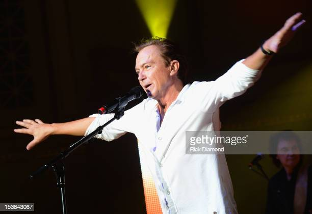 David Cassidy performs during the Paradise Artists Party at IEBA Conference Day 3 at the War Memorial Auditorium on October 9 2012 in Nashville...