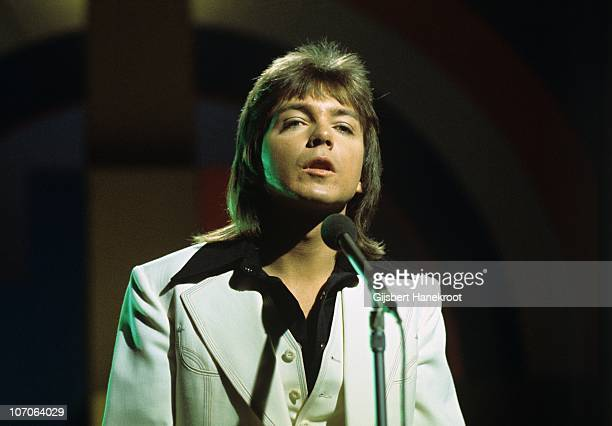 David Cassidy performs on a Dutch TV show in 1974 in Hilversum Netherlands