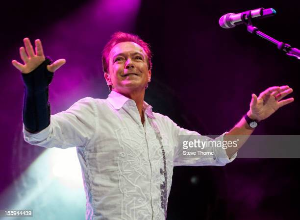 David Cassidy performs on stage during the UK Once In A Lifetime Tour at LG Arena on November 9 2012 in Birmingham United Kingdom