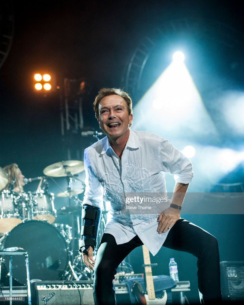 David Cassidy performs on stage during the UK Once In A Lifetime Tour at LG Arena on November 9, 2012 in Birmingham, United Kingdom.