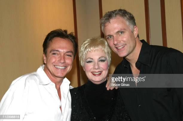 David Cassidy Shirley Jones and Patrick Cassidy during David Cassidy Visits Mother Shirley Jones and Brother Patrick Cassidy Backstage at 42nd Street...