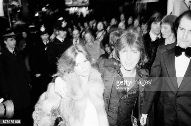 David Cassidy singer actor and musician in London 1977 David arrives at The Rialto Cinema Leicester Square London for the film premiere of The Great...