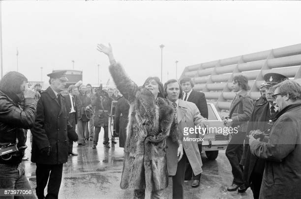 David Cassidy, singer, actor and musician, leaves London's Heathrow Airport in 1973, after some sell out shows. Three thousand screaming teenage fans...