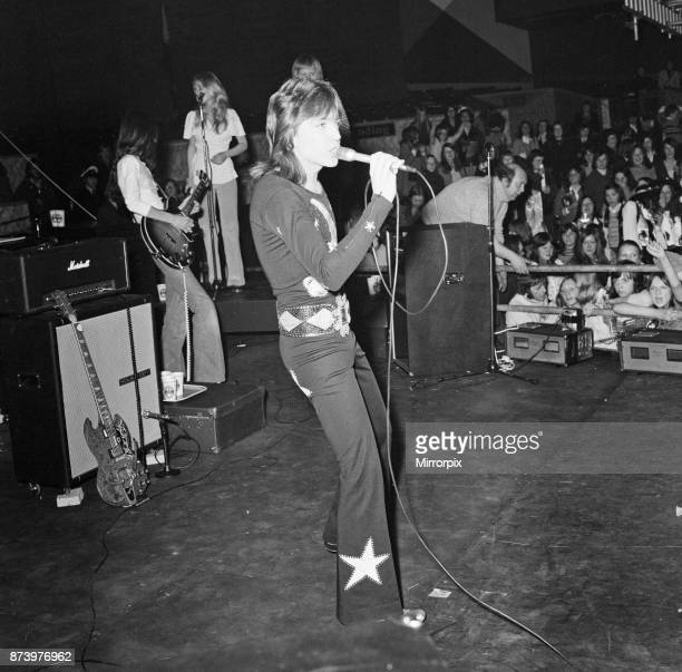 David Cassidy singer and actor pictured during his concert at Belle Vue Manchester 13th March 1973
