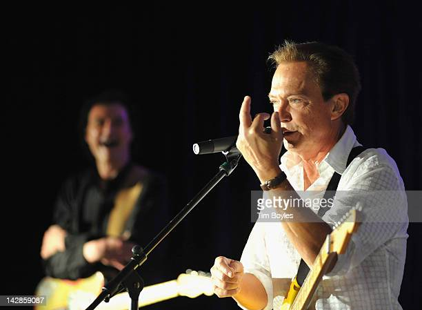 David Cassidy talks about his injured middle finger while performing at The Club at Treasure Island on April 13 2012 in Treasure Island Florida