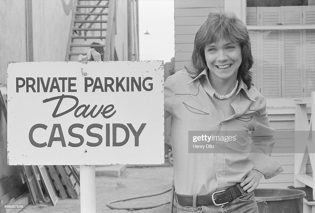 David Cassidy with Personal Parking Space Sign