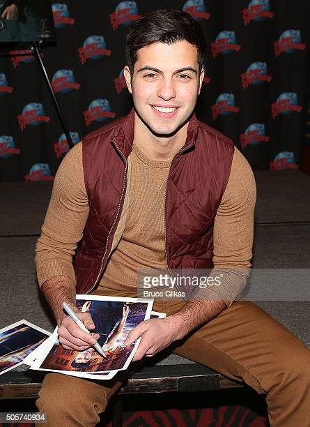David Castro promotes ABC Family's 'Shadowhunters' while he visits Planet Hollywood Times Square on January 19 2016 in New York City