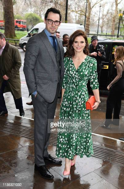 David Caves and Emilia Fox attend the 2019 'TRIC Awards' held at The Grosvenor House Hotel on March 12 2019 in London England