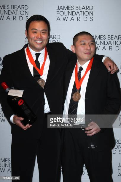David Chang and Peter Serpico attend The 2009 JAMES BEARD FOUNDATION AWARDS at Avery Fisher Hall at Lincoln Center on May 4 2009 in New York City