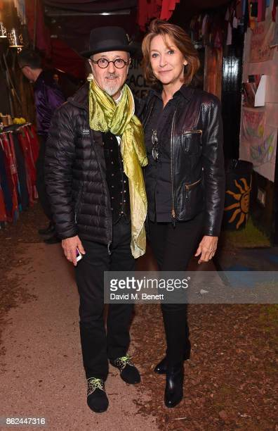 David Charkham and Cherie Mary Lunghi attend the 50th anniversary production of Hair The Musical at The Vaults on October 17 2017 in London England
