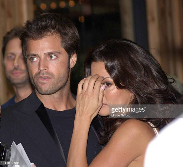 David Charvet and Brooke Burke during The Grand Opening of The First Hooters Casino Hotel at Hooters Casino Hotel in Las Vegas Nevada United States