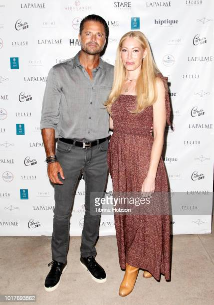 David Charvet and Julie Mintz attend LaPalme Magazine and Hiptique's Indian Summer Soiree at Trancas Country Market on August 15 2018 in Malibu...