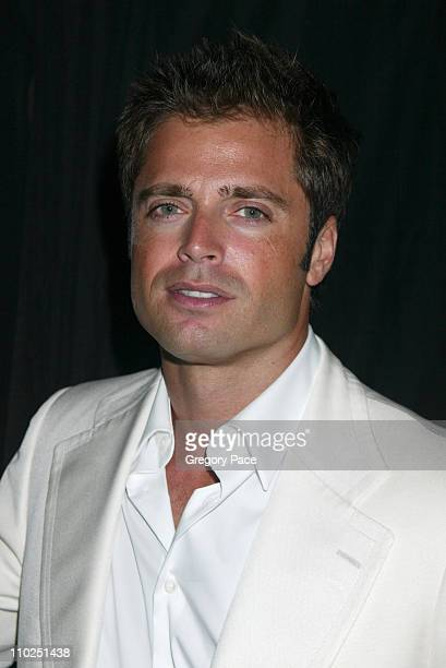 David Charvet during Olympus Fashion Week Spring 2006 Tommy Hilfiger Front Row and Backstage at Bryant Park in New York City New York United States
