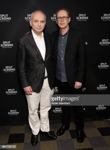 David Chase and Steve Buscemi attend Vanguard Award Honoring David Chase Screening Of 'The Sopranos' Season 3 'Pine Barrens' during 2017 IFC Split...