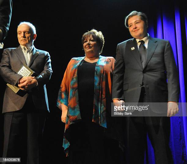 David Chase Michael Gandolfini and Johanna Antonacci attends the Wounded Warrior Project Carry Forward Awards Show at Club Nokia on October 10 2013...