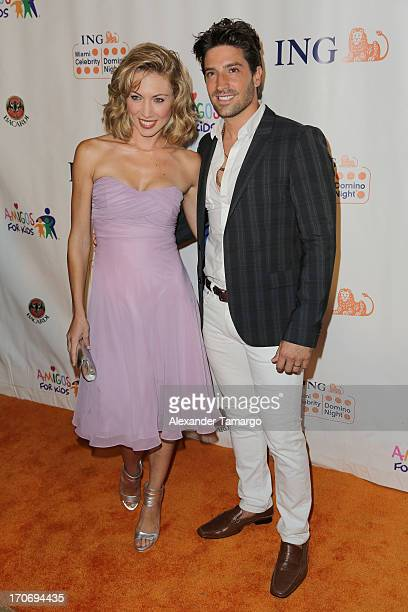 David Chocarro and his wife Carla attend ING Celebrity Domino Night to benefit Amigos For Kids at Jungle Island on June 15 2013 in Miami Florida