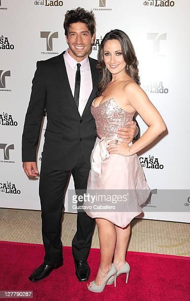 David Chocarro and Karla Monroig attends Telemundo La Casa de al Lado VIP Premiere at Mandarin Oriental on May 31, 2011 in Miami, Florida.
