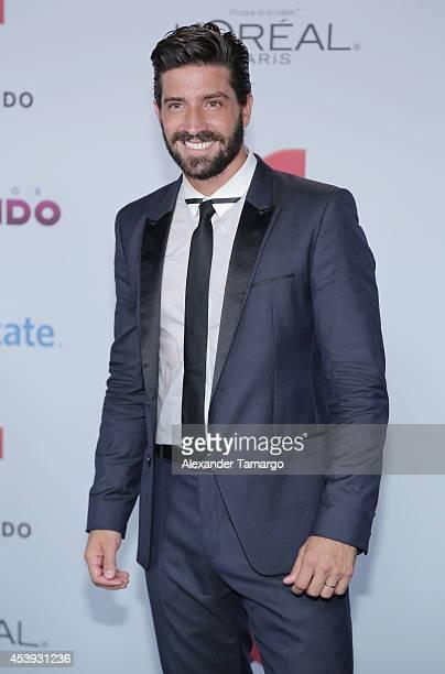 David Chocarro arrives at Telemundo's Premios Tu Mundo Awards 2014 at American Airlines Arena on August 21 2014 in Miami Florida