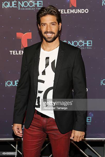 David Chocarro arrives at the special screening of 'Que Noche With Angelica And Raul' at Imagina Studios on October 29 2015 in Miami Florida