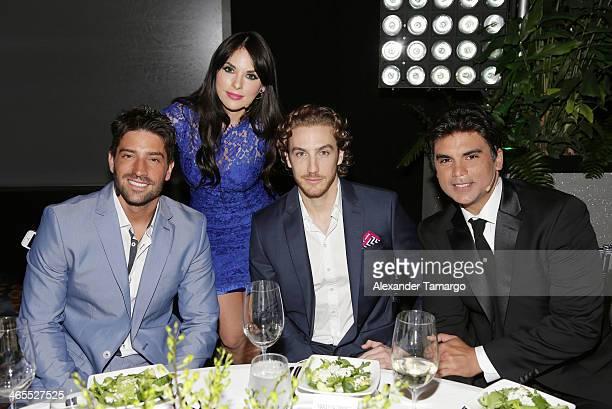 David Chocarro Vanessa Villela Eugenio Siller and Jorge Luis Pila attend Telemundo Luncheon to launch 'Camelia Le Texana' during NATPE at Eden Roc...