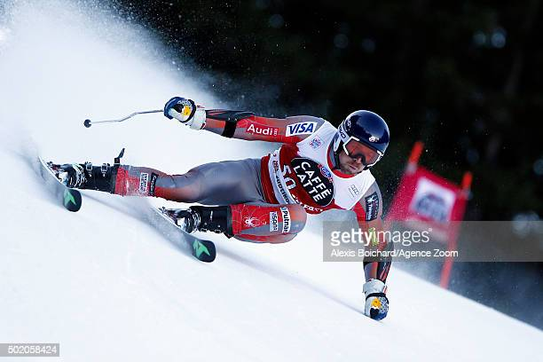 David Chodounsky of the USA competes during the Audi FIS Alpine Ski World Cup Men's Giant Slalom on December 20 2015 in Alta Badia Italy