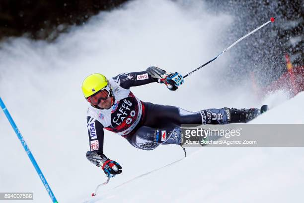 David Chodounsky of USA competes during the Audi FIS Alpine Ski World Cup Men's Giant Slalom on December 17 2017 in Alta Badia Italy