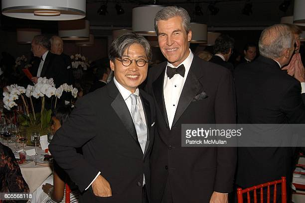 """David Chu and Terry Lundgren attend The WHITNEY MUSEUM OF AMERICAN ART's 15th Annual """"American Art Award"""" at One Beacon Court & Le Cirque on May 16,..."""