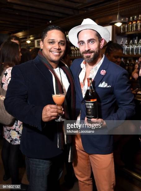 David Cid and Gio Gutierrez attend an immersive theatrical experience 'Amparo' presented by HAVANA CLUB Rum on April 3 2018 in New York City